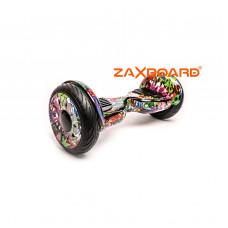 Аква Гироскутер ZAXBOARD ZX-10 Lite (Граффити фиолетовый/Джунгли)